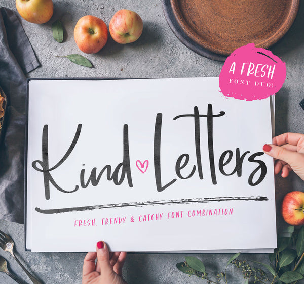 New Font Duo! Introducing Kind Letters