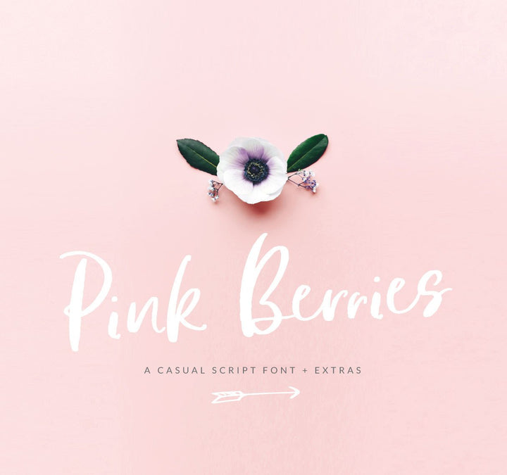 Introducing the Pink Berries Font!