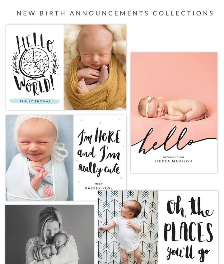 NEW Birth announcement collections