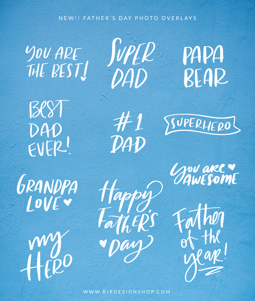 New - Father's Day Photo overlays
