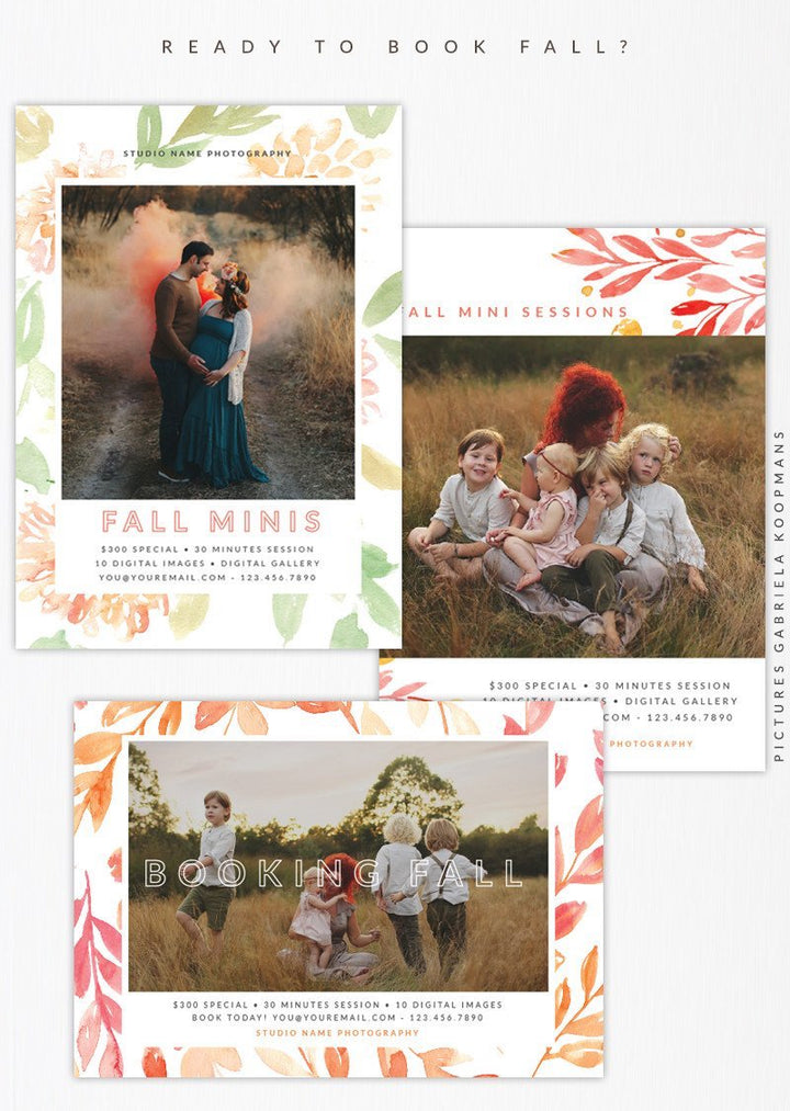 New templates to book your Fall season!