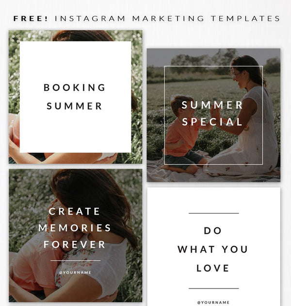 July's freebie - Instagram templates