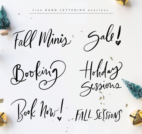 September FREEBIE - Booking Overlays Handlettering style