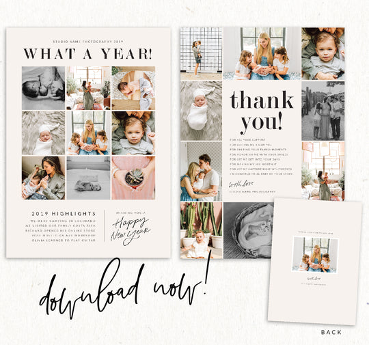 FREE STUDIO CARDS: THANK YOU CARDS + A YEAR IN REVIEW