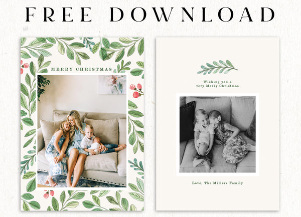FREE Floral Christmas Cards