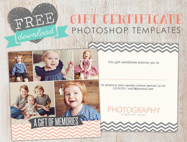 Free gift certificate template photoshop birdesign april free photoshop template yelopaper Images