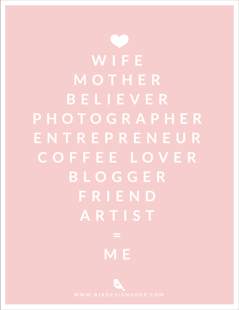 Wife, mother, believer, photographer, entrepreneur, coffee lover, blogger, friend, artist, it's ME!!