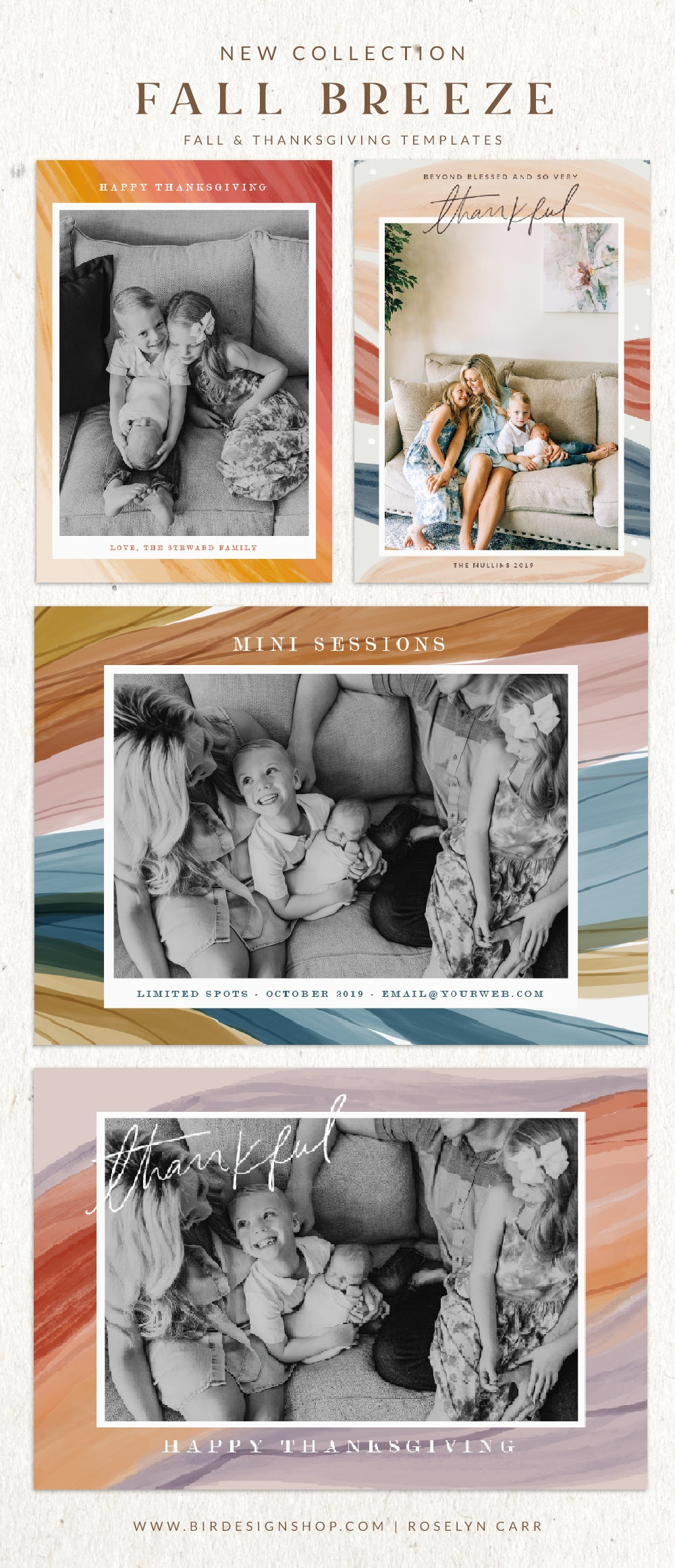 Thanksgiving Card templates for photographers