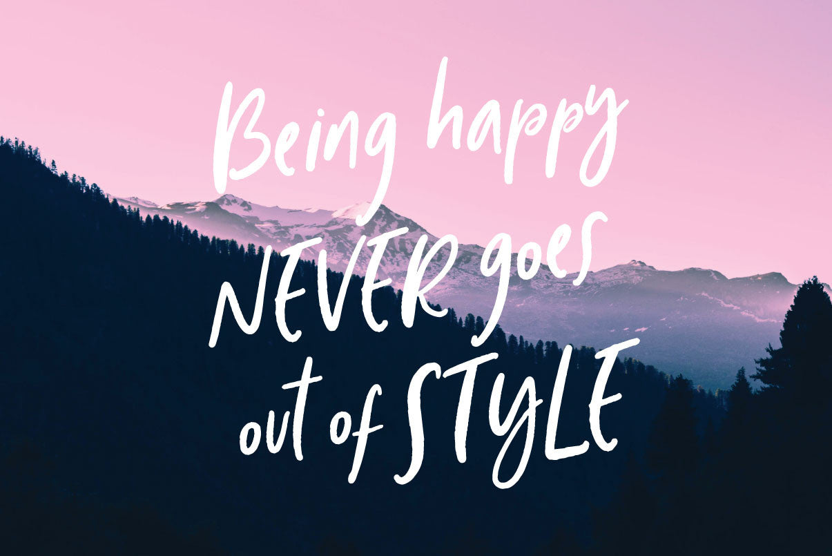 Wonderfall Script Font - Being happy never goes out of style