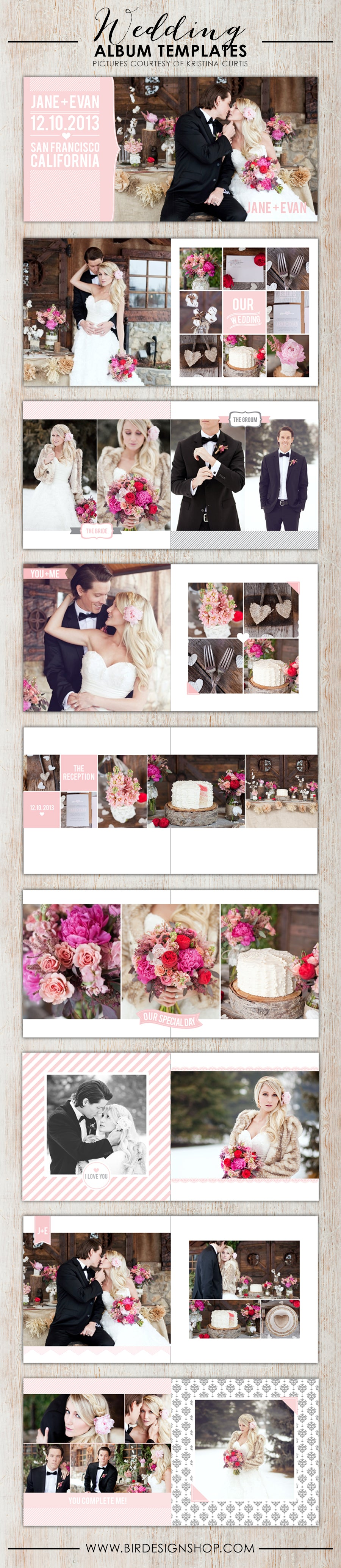 New wedding albums birdesign for Wedding photo album templates in photoshop