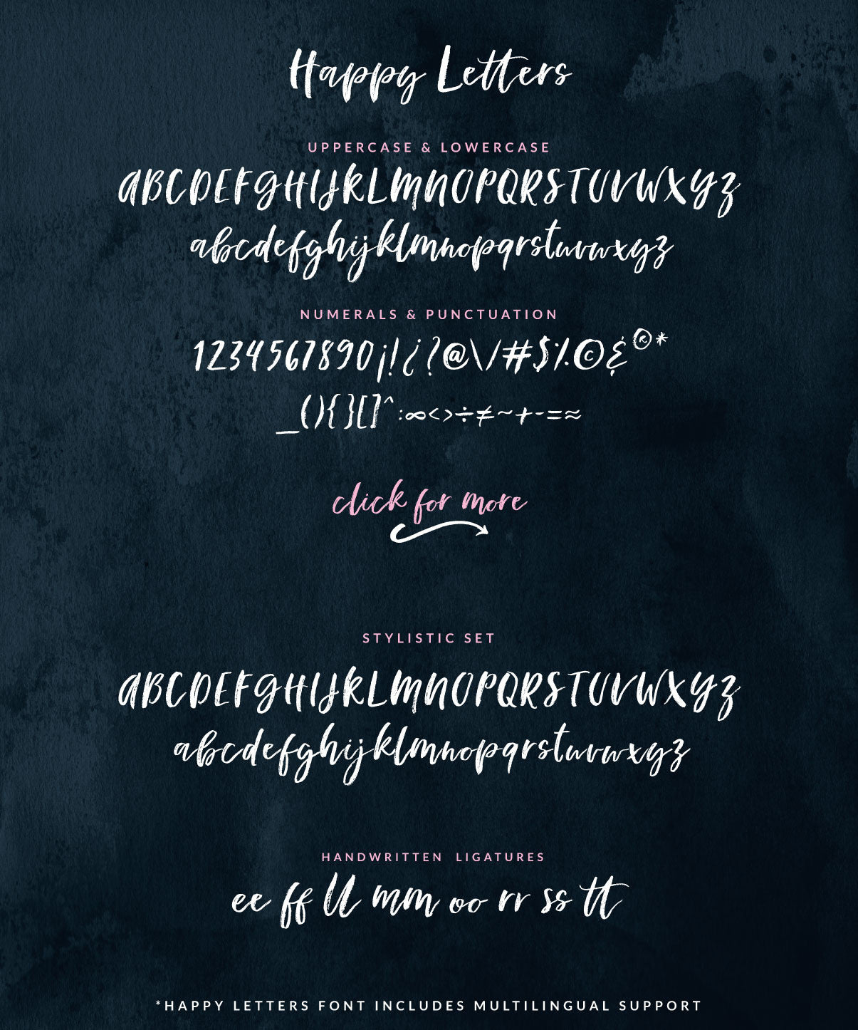 Happy Letters font - Birdesign