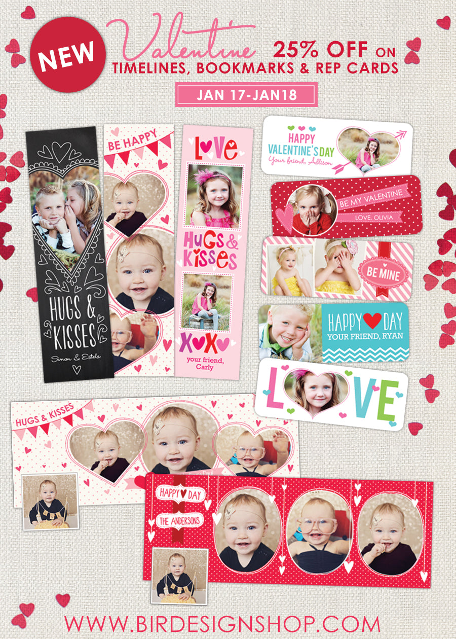 Valentine photoshop templates, valentine bookmarks
