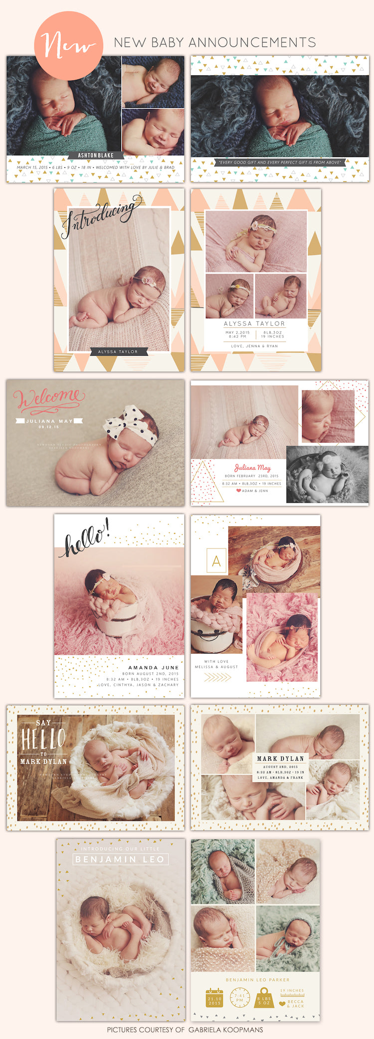 birth announcements photoshop templates