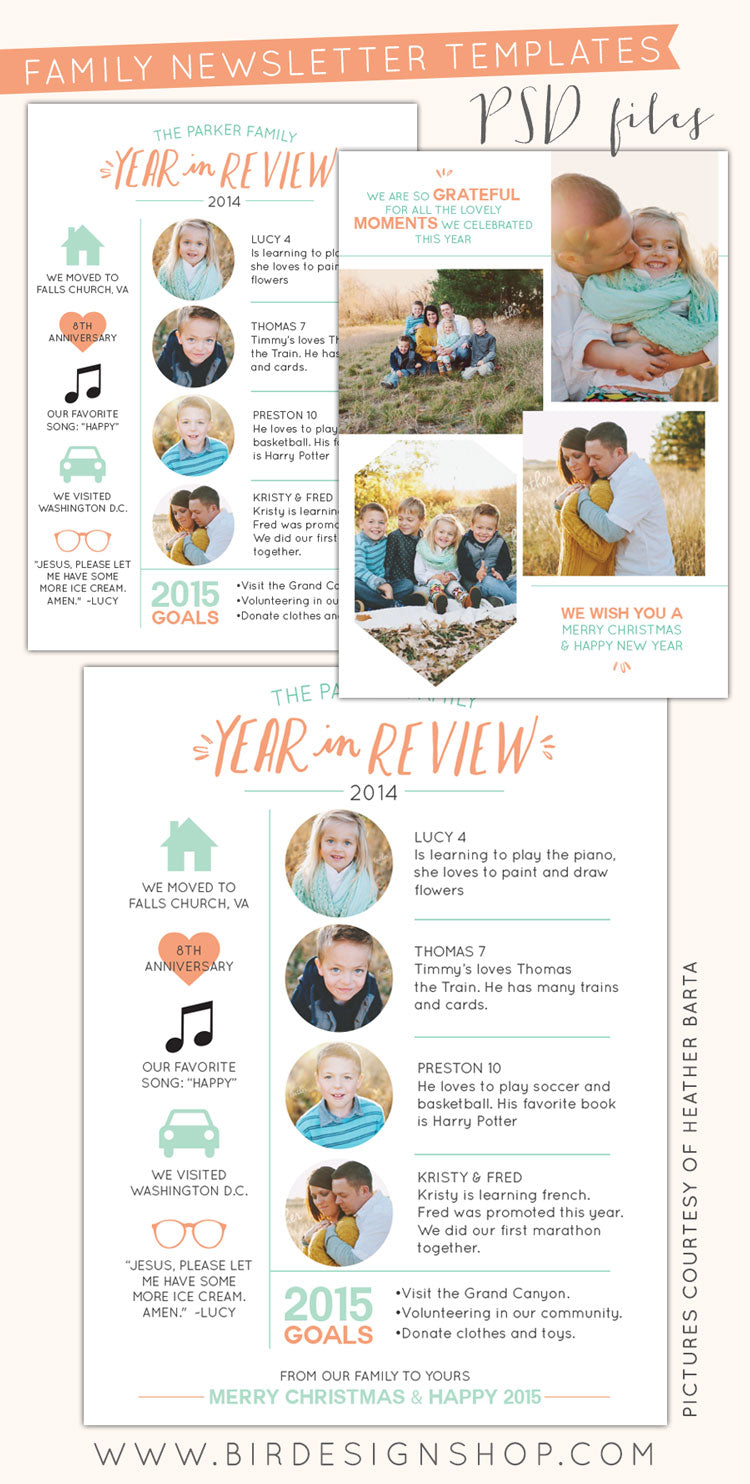 share your most special moments with your love ones using our new year in review collection double sided cards and letter size newsletters to print
