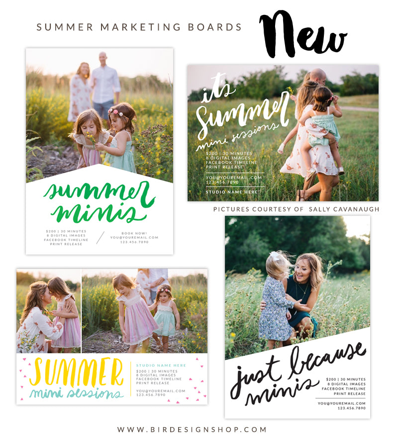 Summer mini sessions newsletter templates