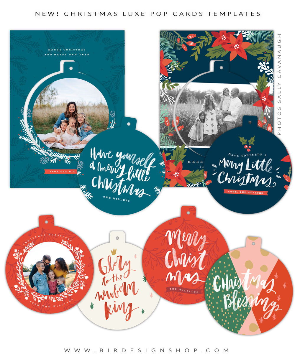 christmas luxe pop cards