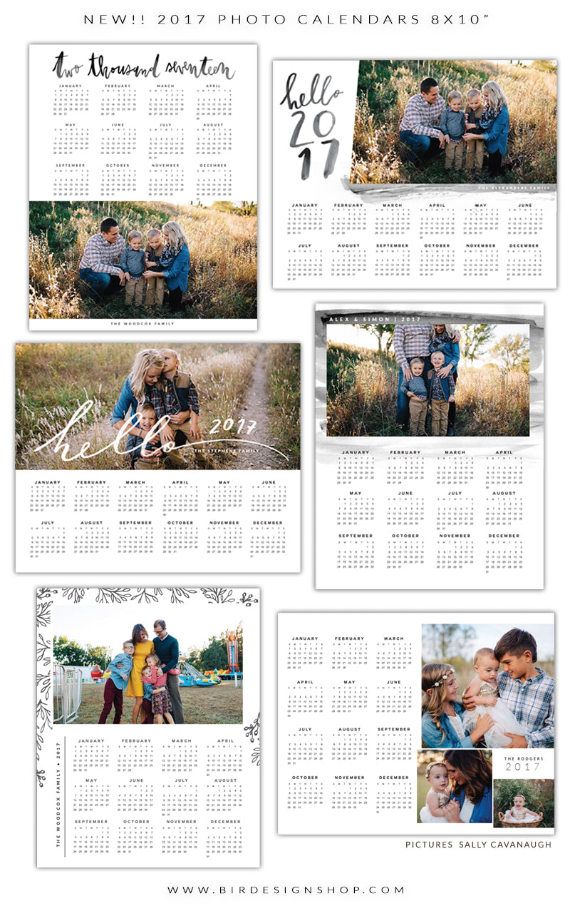 2017 calendar templates psd - studio photography tool