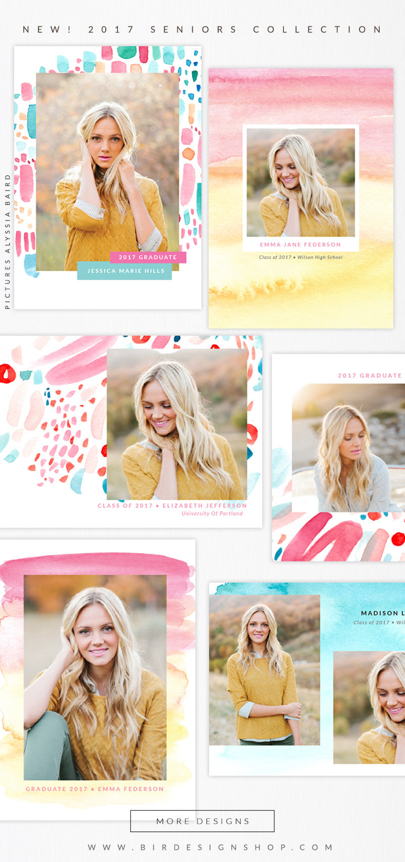 senior cards photoshop templates