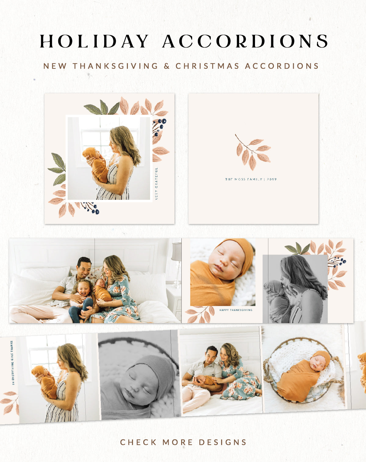 Miller's Lab accordion mini templates for photographers