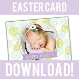 free easter card photoshop template for photographers