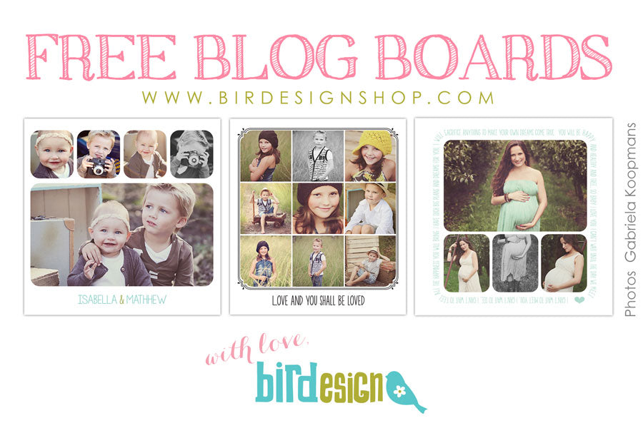 free blog board photoshop templates for photographers