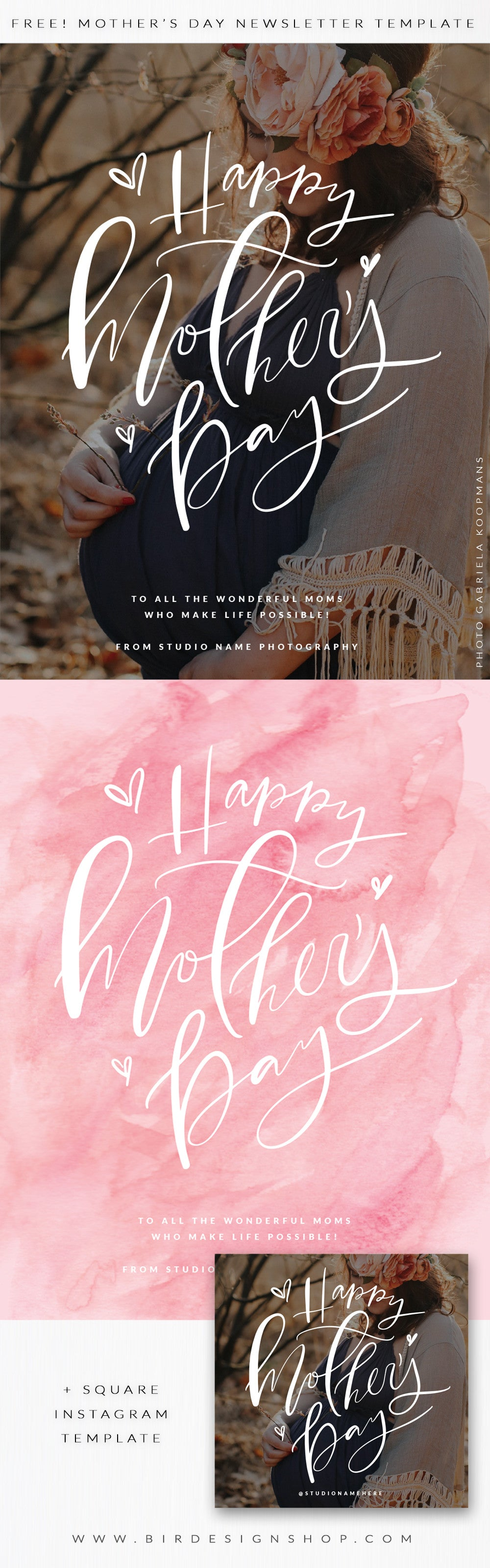FREE templates - Mother's Day marketing newsletter