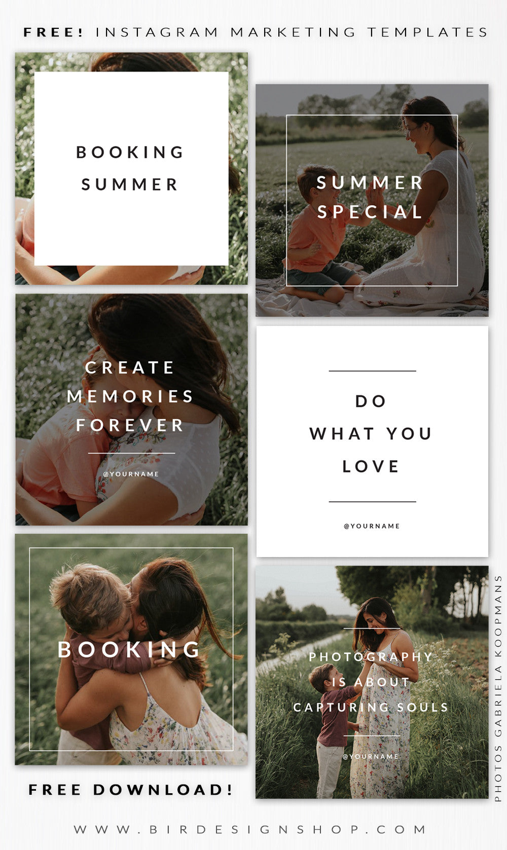 Free download - instagram and social media templates