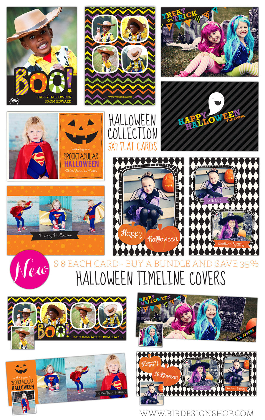 halloween photo cards templates - halloween photoshop templates