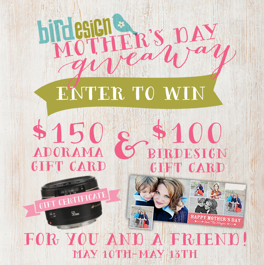 Photographer mom giveaway templates