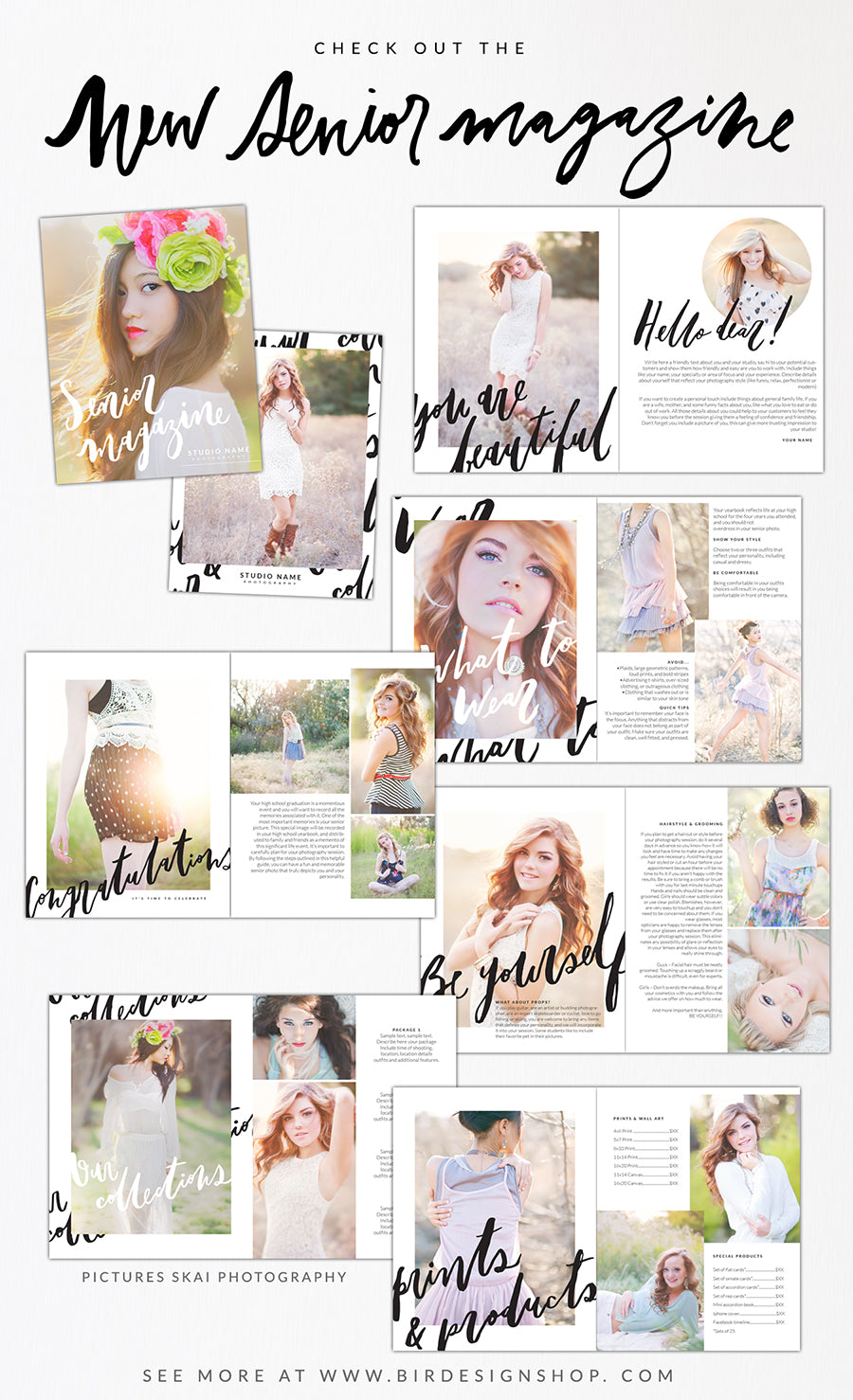 Photography Senior Magazine template