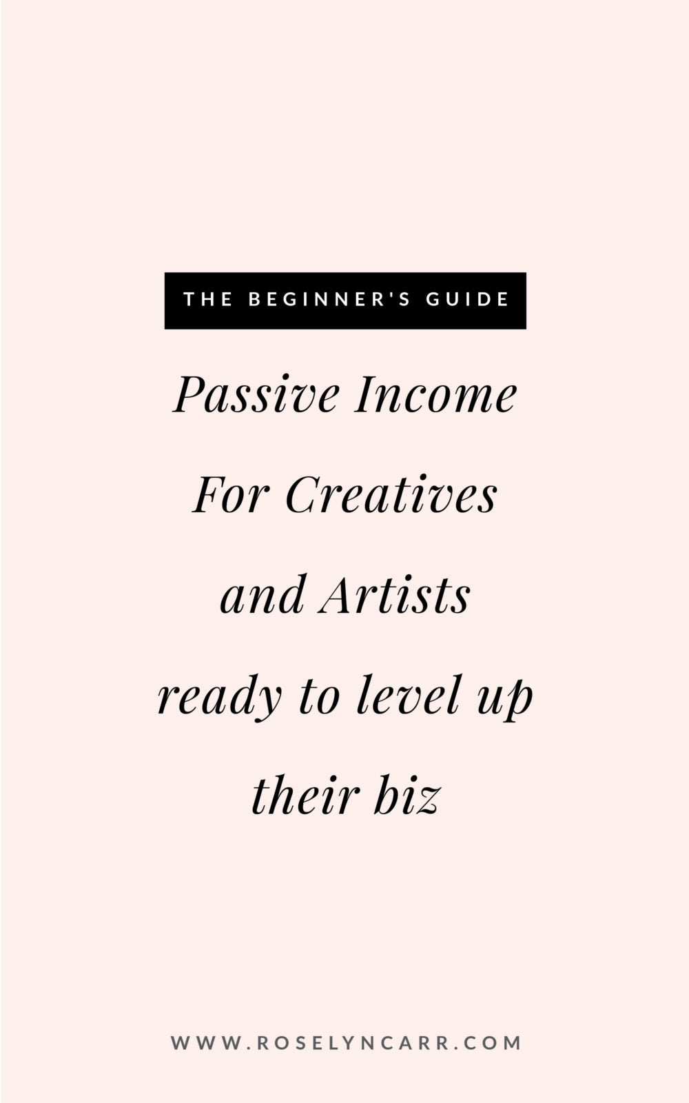passive income for creatives 101