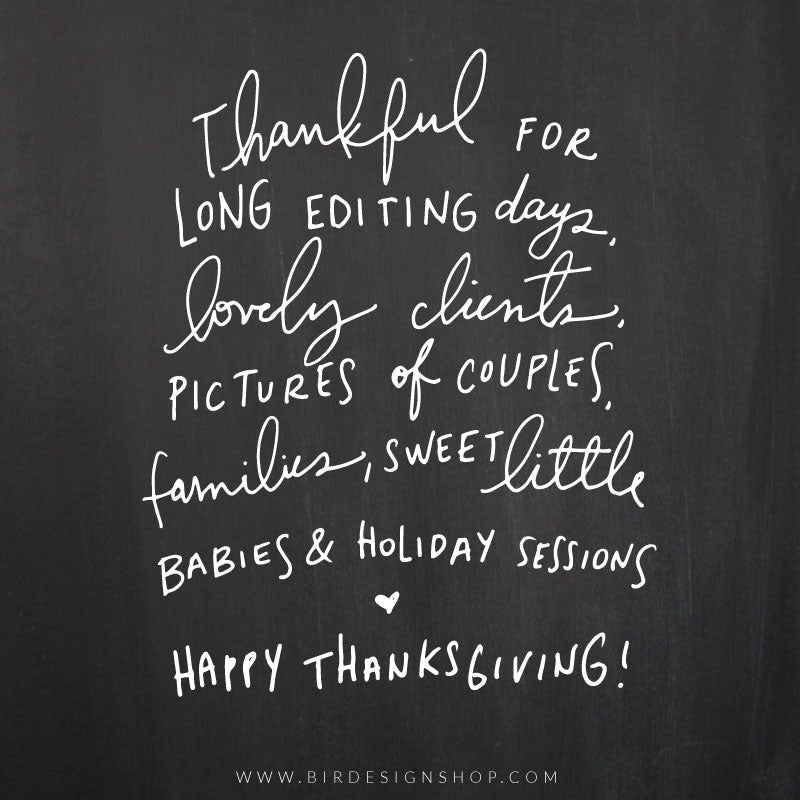 thankful photographer quote - handlettering thanksgiving