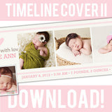 free timeline cover photoshop template