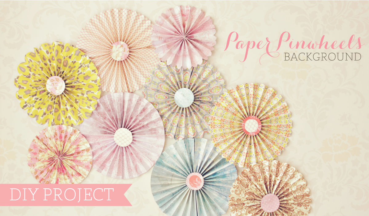 paper pinwheels background, DIY photography project, portrait background