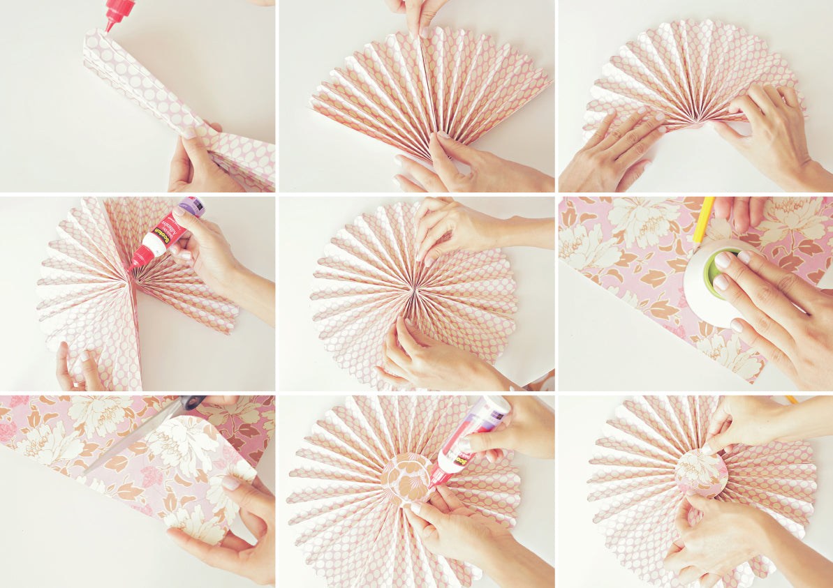 DIY Paper Pinwheels Background - Click & Blossom
