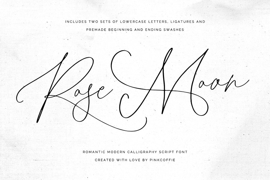 Rose Moon - Modern Calligraphy Font