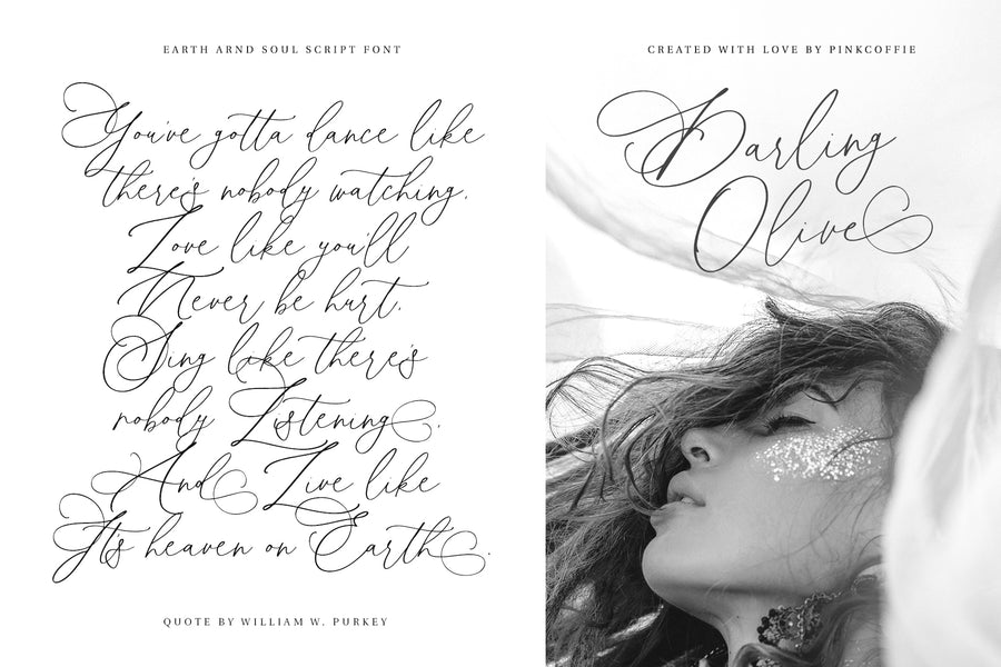 Earth And Soul | Modern Calligraphy Font
