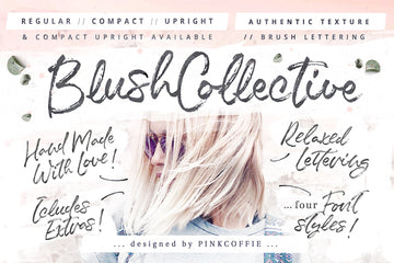 Blush Collective Font Family - 4 variations + Extras!