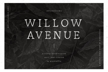 Willow Avenue | Hand-lettered Serif Font