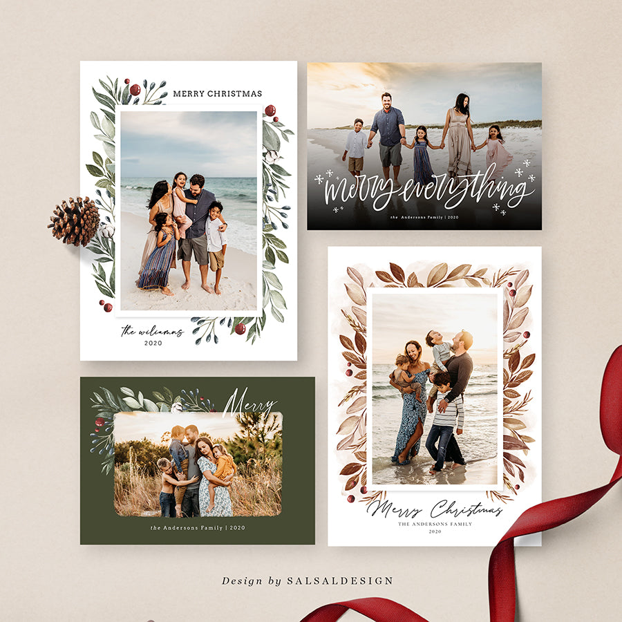Christmas 5x7 Photo Cards Bundle | Merry Love