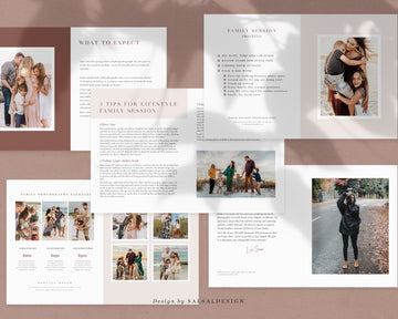 Family Photography Guide Template | Magazine Style Terra