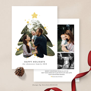 Christmas 5x7 Photo Card | Family tree