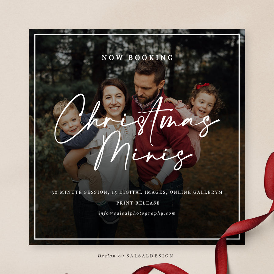 Christmas Minis Session Template | Mini Xmas
