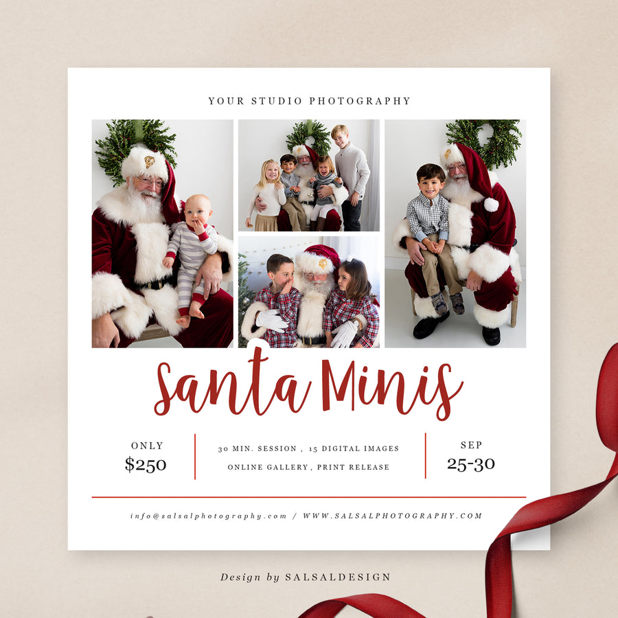 Christmas Minis Session Template | Hello Santa