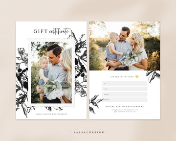 Photography Gift Certificate - Black elegance