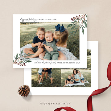 Christmas 5x7 Photo Card | Siblings miracles