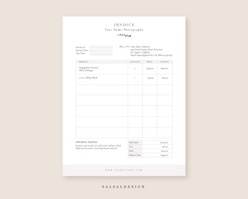 Wedding Invoice Design | Receipt Template