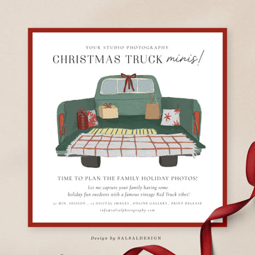 Christmas Minis Session Template | Xmas Truck