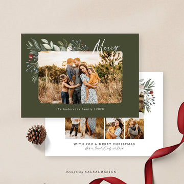 Christmas 5x7 Photo Card | Moka Holidays