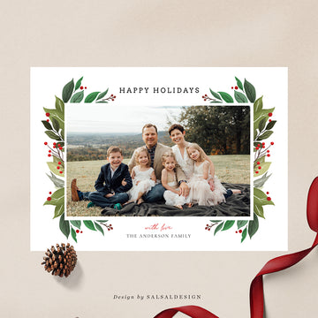 Christmas 5x7 Photo Card | Classic Foliage